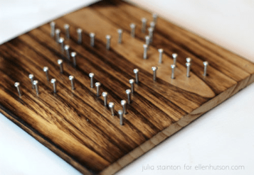 board with nails three