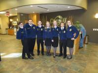 FFA Week was one of the highlights of my State Officer year. One day I got to hang out at Cargill with these Maize FFA members!