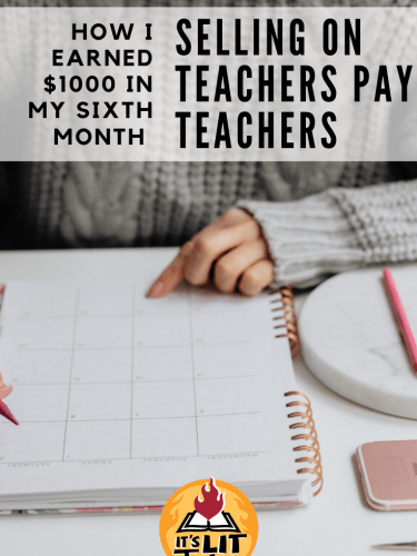 How I Made $1,000 in my Sixth Month Selling on Teachers Pay Teachers