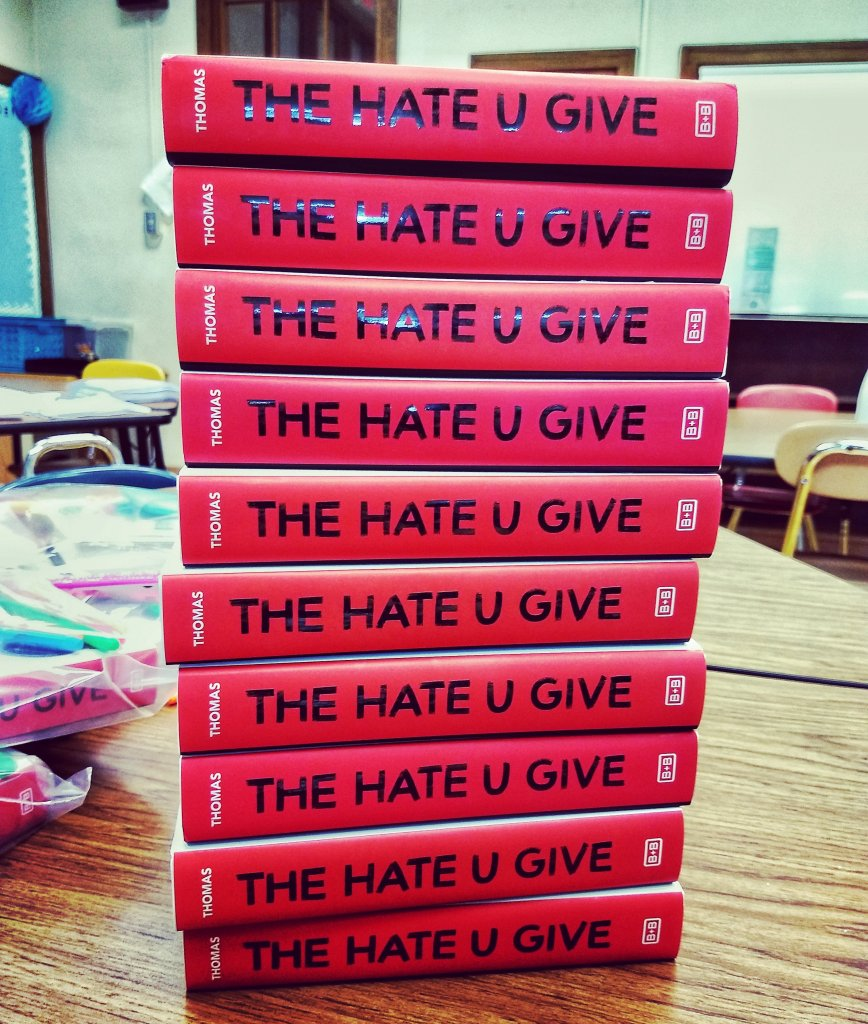 Copies of The Hate U Give