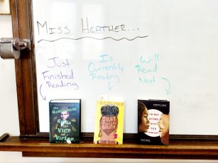 A teacher's To Be Read List on display