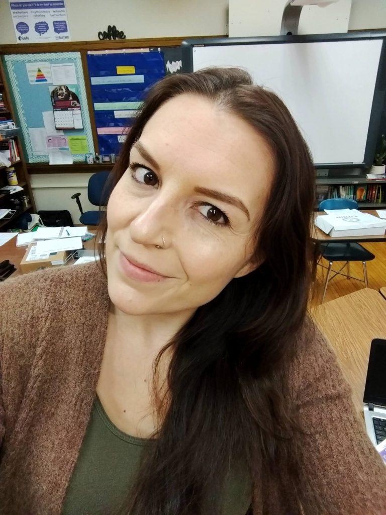 Heather Cianci, creator of It's Lit Teaching, in her classroom.
