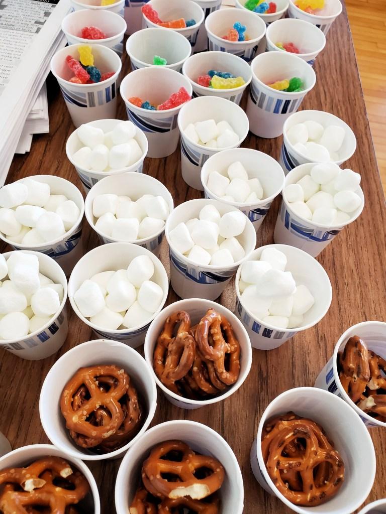 Snacks for figurative language tasting activity