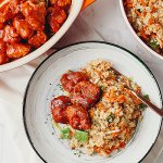 Quinoa Salad with BBQ Seitan