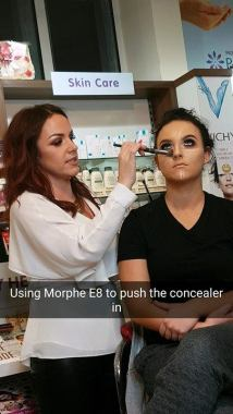 Collette masterclass concealer using morphe e8