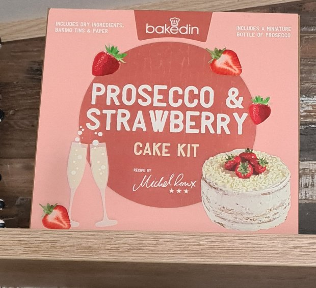 Strawberry and Prosecco Cake Kit from BakedIn