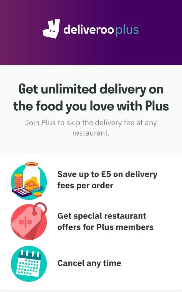 Deliveroo plus