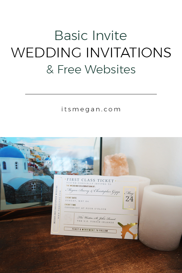 Basic Invite Wedding Invitations and the Best Free Wedding Websites