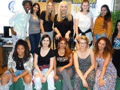 World-renowned Vocal Coach Elaine Overholt with the Honey Jam Artists of 2015