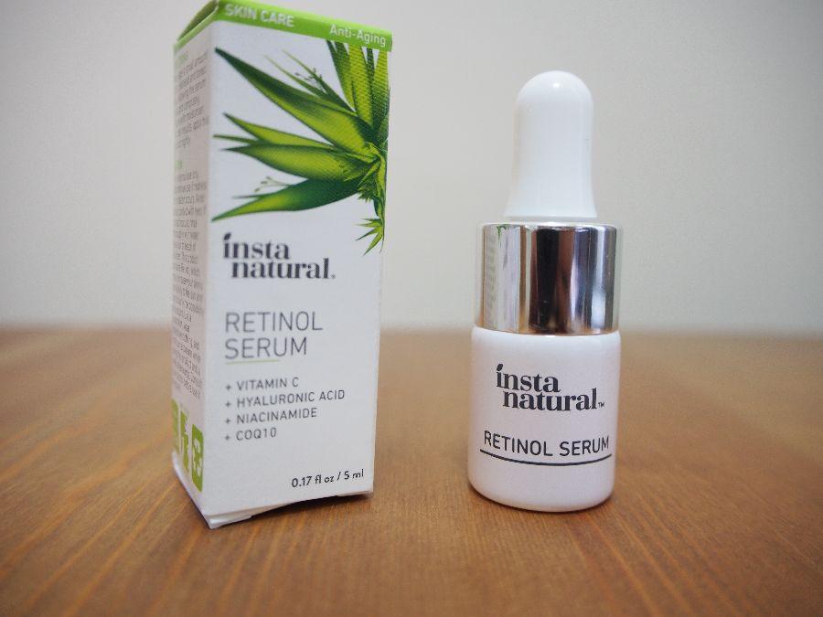 InstaNatural, レチノール美容液・ヒアルロン酸+ビタミンC配合
