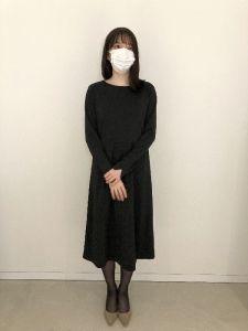 IEDIT[イディット] 花粉リリース&UVカットで快適優秀なブラックワンピース〈ブラック〉