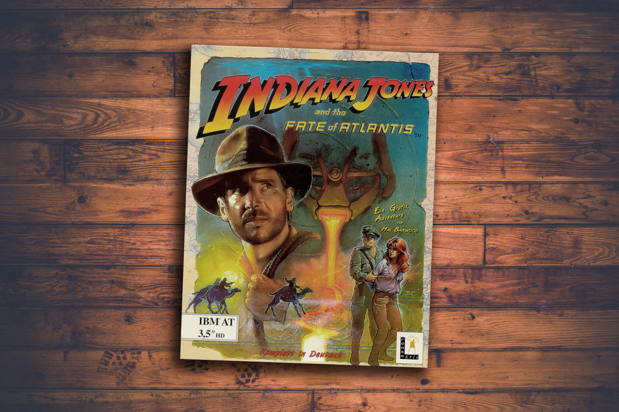 "Box of the game ""Indiana Jones and the Fate of Atlantis"""