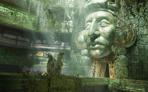 """Screenshot of the game """"Shadow of the Tomb Raider"""" showing a fictional South-American Temple"""
