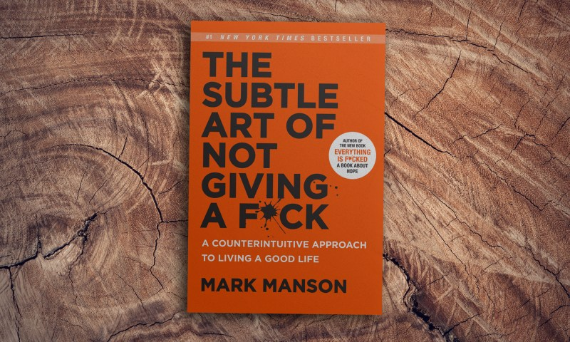 """Cover of Mark Mansons book """"The Subtle Art of not Giving a Fuck"""""""