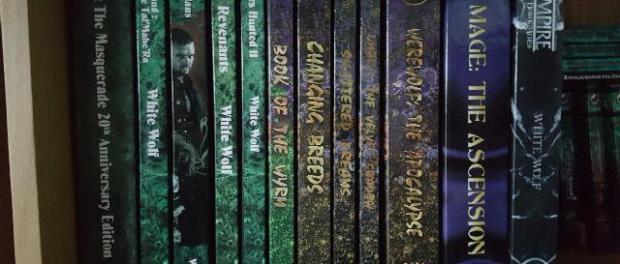 Onyx Path Vampire and Werewolf Books