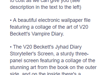 Details of Beckett Jyhad Diary Pledge