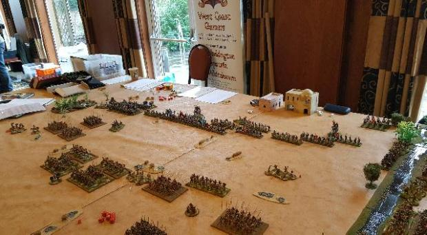 Hail Caesar wargame with Macedonians and Indians