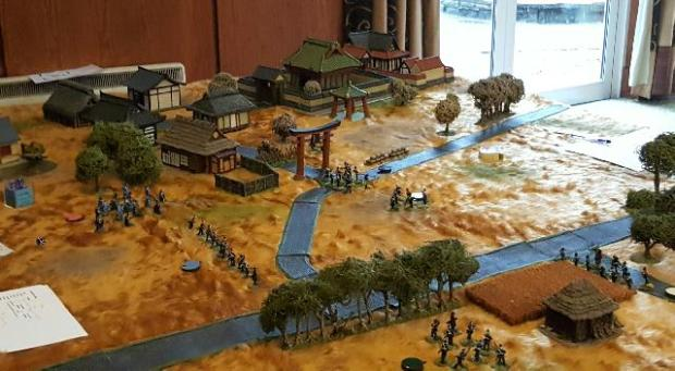 Samurai Armies on a Japanese themed tabletop