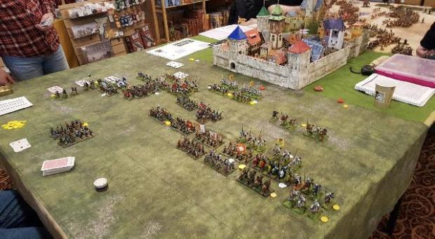 Medieval Wargame with Castle