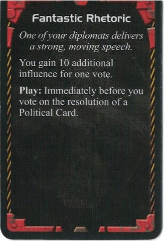 Twilight Imperium Action Card Fantastic Rhetoric