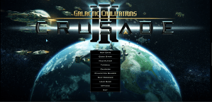 Galactic Civ3: Crusade launch screen
