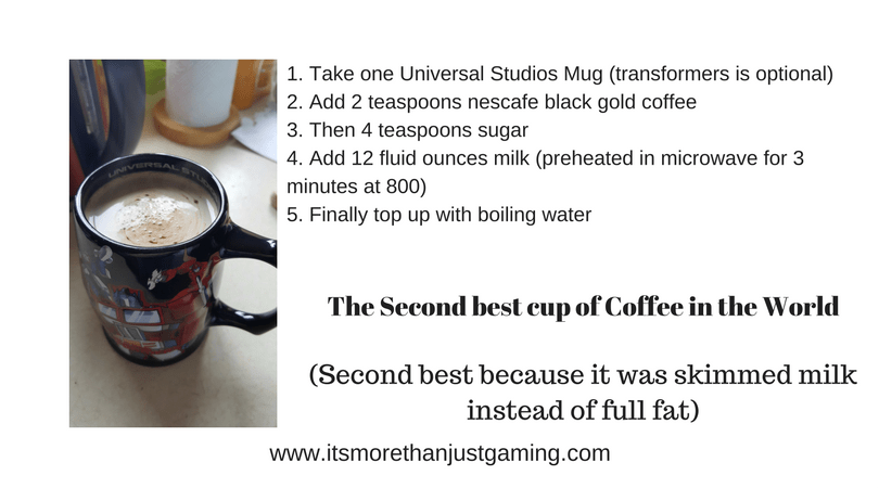 I am very fussy about my coffee. This is my recipe for the second best cup in the world