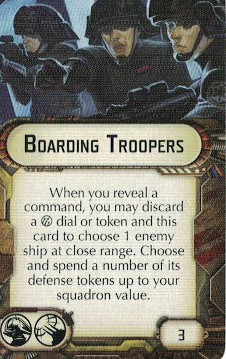 Boarding troopers are ideally suited for overcoming Rebel defences