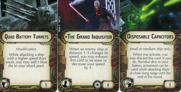 The Grand Inquisitor, Disposable capacitors and quad batteries are ideal for pursuit ships
