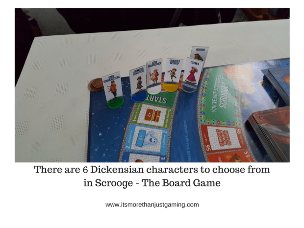 There are 6 Dickensian characters to choose from in Scrooge - The Board Game