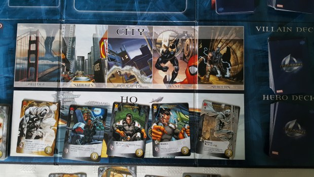 Marvel Legendary, Hero HQ, Hero Deck and Villain Deck