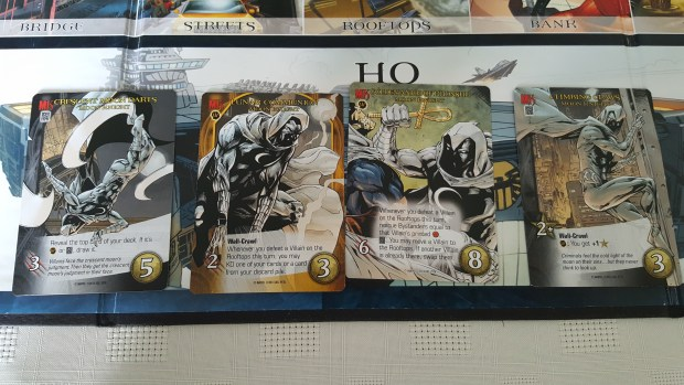 Moon Knight cards from Marvel