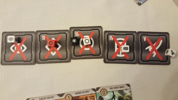 Image of dice and phase tiles from Roll for the Galaxy