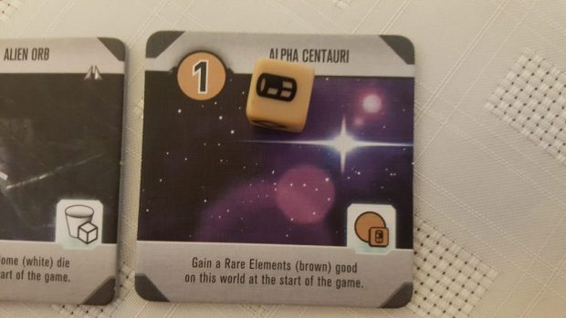 A planet with goods on it in Roll for the galaxy