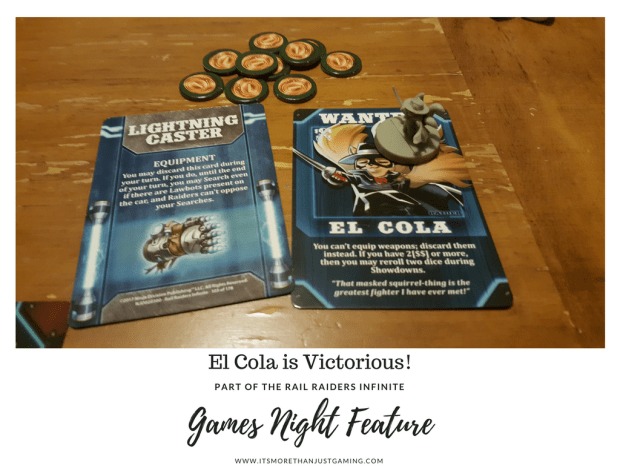 El Cola is victorious in Rail Raiders