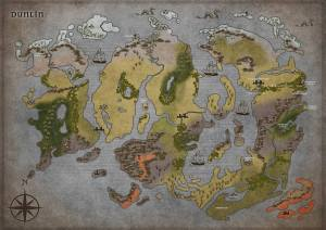 The map of Dunlin made in Inkarnate for our D&D 5thEd game