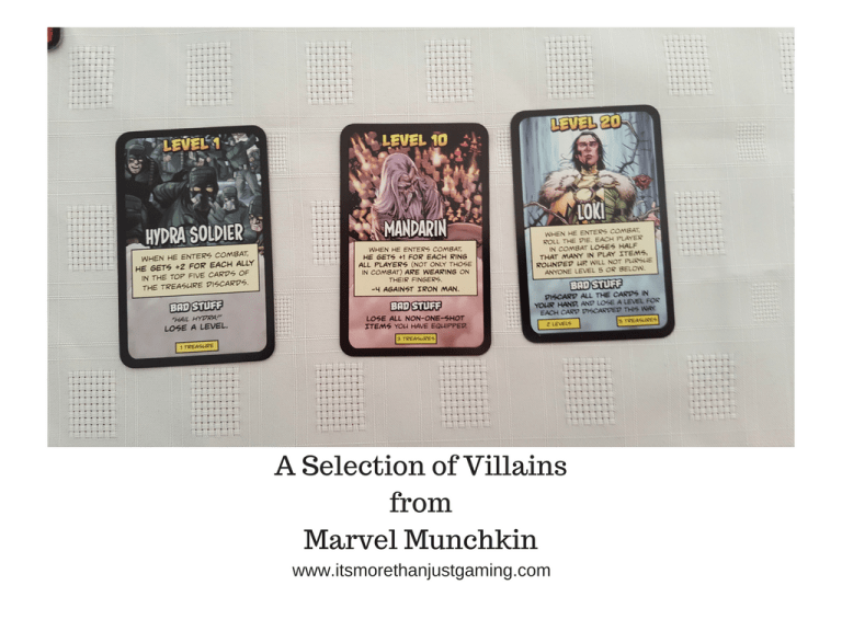 A Selection of Villains from Marvel Munchkin