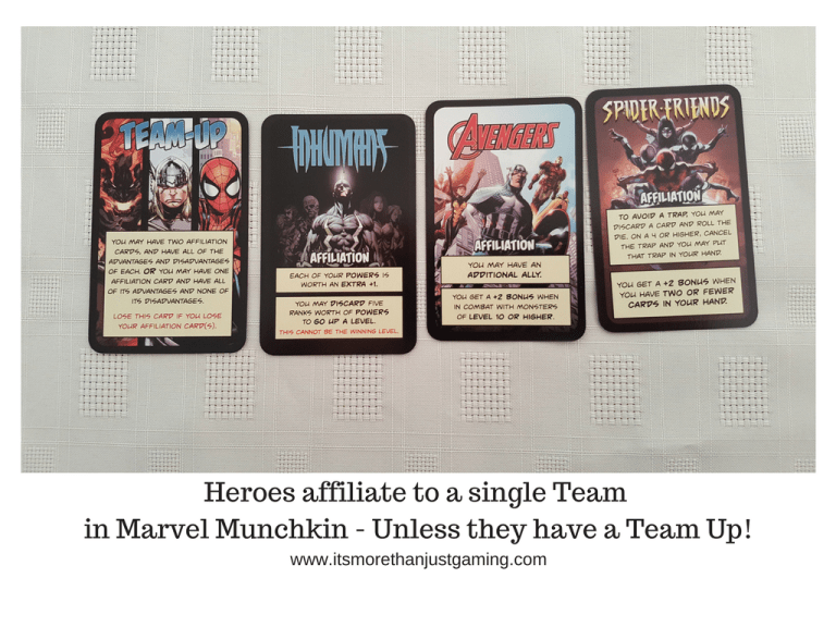 Heroes affiliate to a single Team in Marvel Munchkin - Unless they have a Team Up!