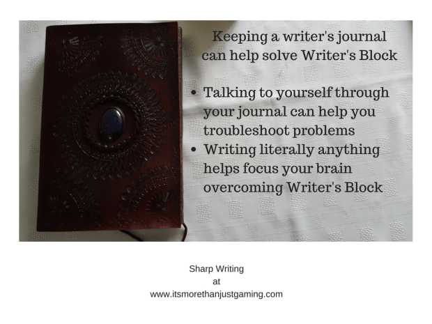 Keeping a writer's journalcan help solve Writer's Block