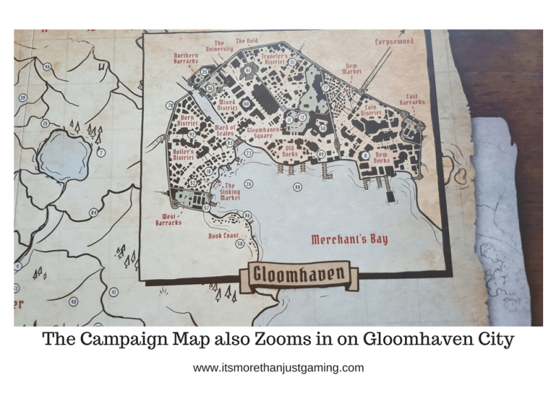 The Campaign Map also Zooms in on Gloomhaven City