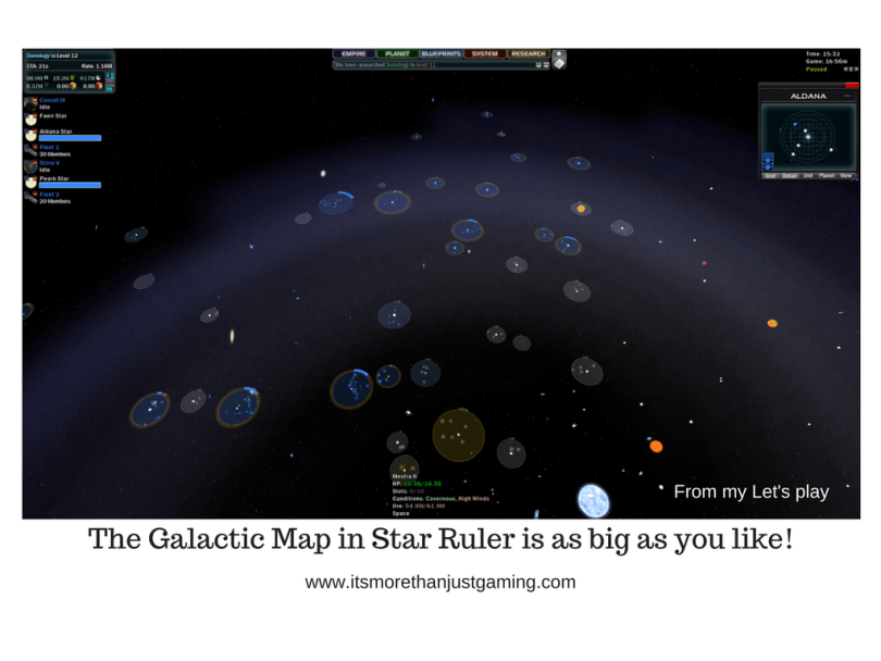 The Galactic Map in Star Ruler is as big as you like!
