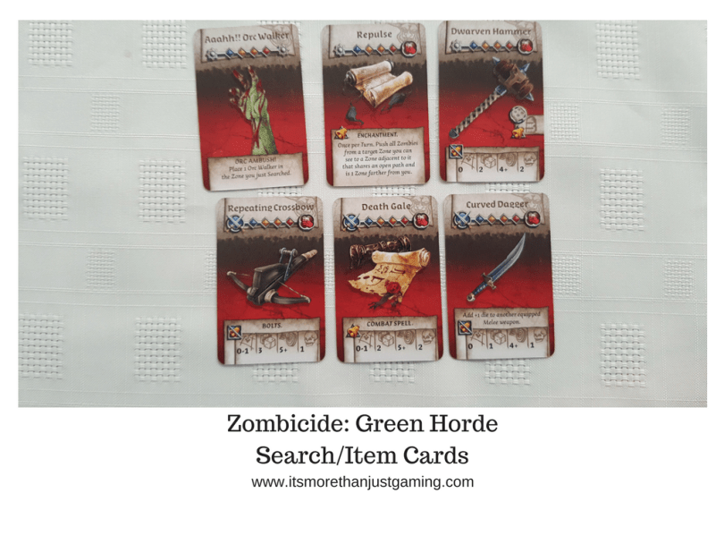 Zombicide_ Green HordeSearchItem Cards