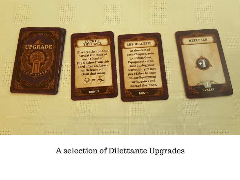 A selection of Dilettante Upgrades