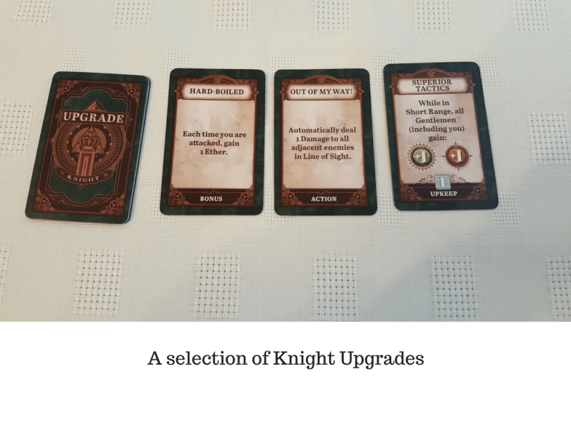 A selection of Knight Upgrades