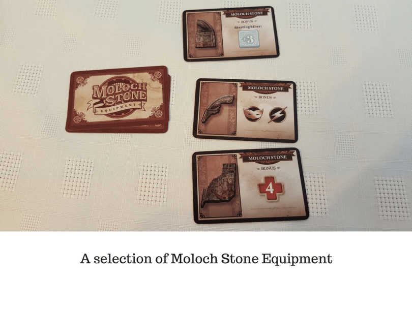 A selection of Moloch Stone Equipment