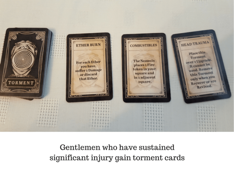 Gentlemen who have sustained significant injury gain torment cards