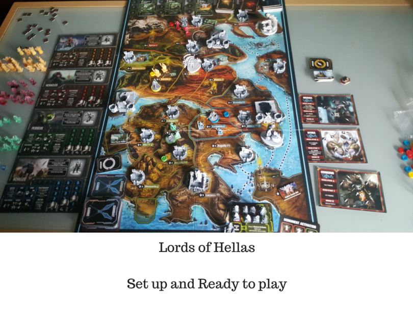 Lords of Hellas Set up and Ready to play