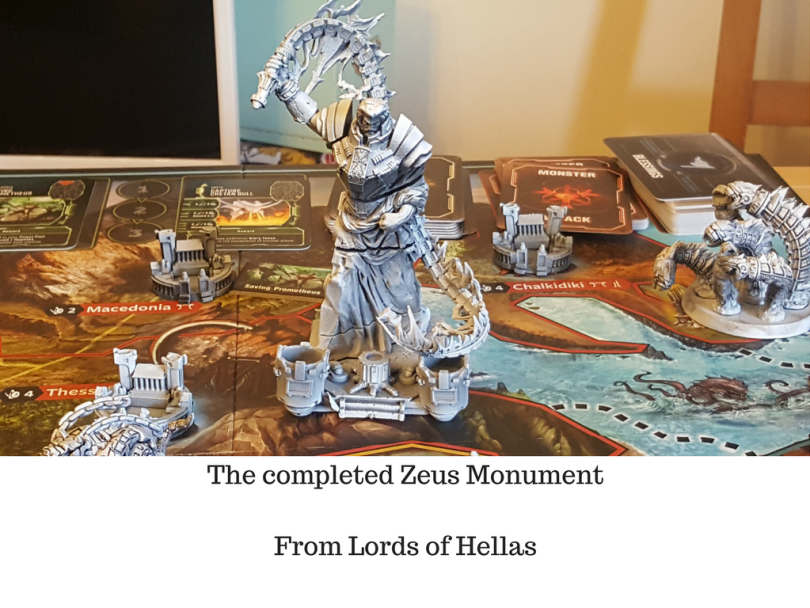 The completed Zeus Monument