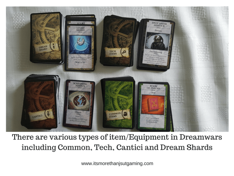 There are various types of itemEquipment in Dreamwarsincluding Common, Tech, Cantici and Dream Shards
