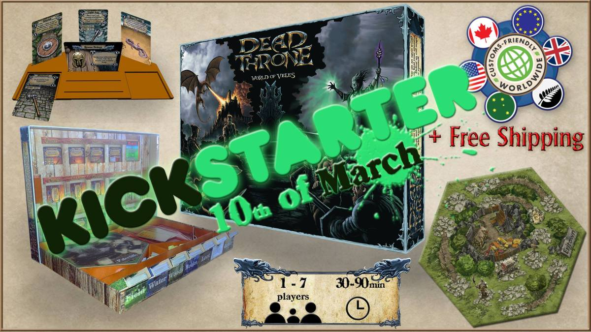Dead Throne -Returning to Kickstarter March 10th