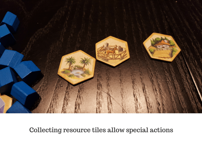 Collecting resource tiles allow special actions